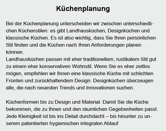 Küchenplanung aus  Sachsenheim
