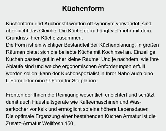 Küchenform in 74343 Sachsenheim